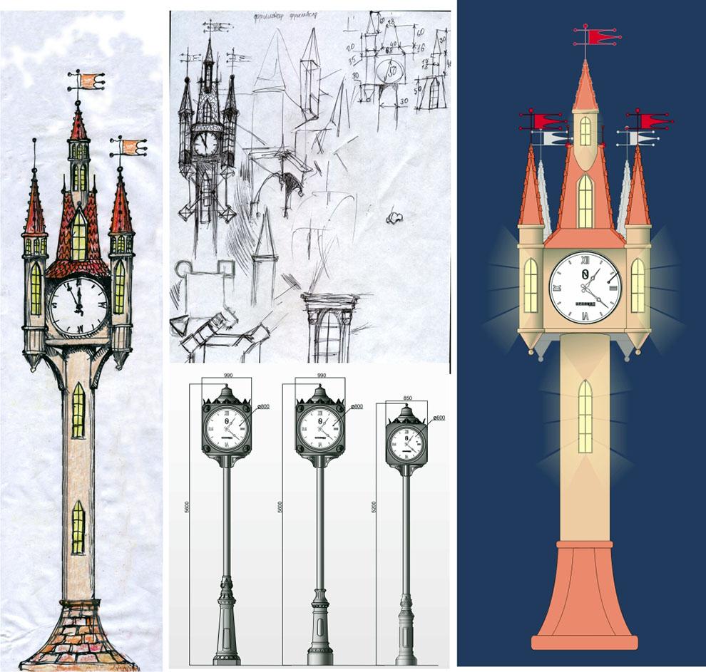 Как нарисовать свою башню с часами